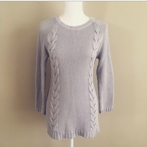 Cynthia Rowley Chunk Knit Button Back Sweater